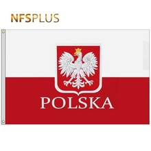 Poland Flag Banners Polish Decorative National 90x150cm Printed Polyester Grommets 2-Brass