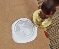 Beyaz tavşan Mum Mühür Damga/Sızdırmazlık Wax Seal/tavşan Damga ws090