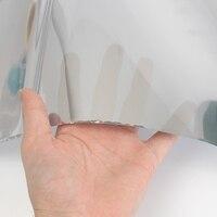 Privacidad Window Film Espejo Unidireccional Plata Etiqueta de Vidrio Aislante Reflectante Láminas Decorativas para la Oficina En Casa 30 cm x 7.2 m
