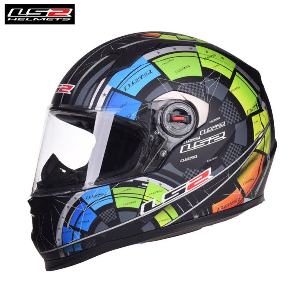 LS2 FF358 Moto Casque Intégral Moto Hommes Racing Casque Moto Casco Capacetes de Motociclista