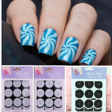 Template Stencil Stickers Nail