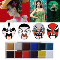 Professional Cosmetic 12 Color Flash Tattoo Face Body Paint Oil Painting Art Halloween Party Fancy Dress