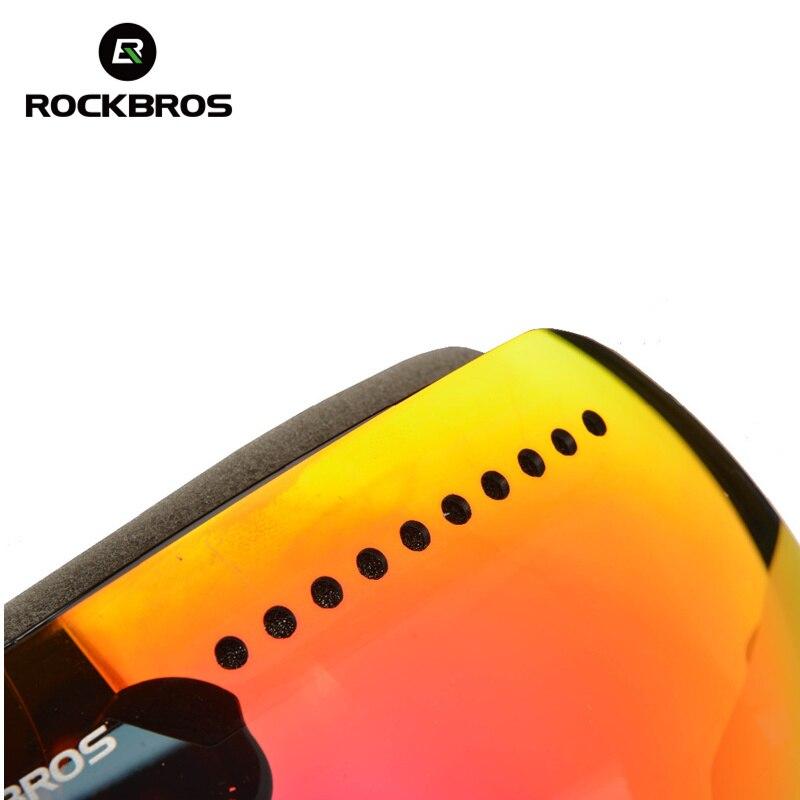 ROCKBROS Lunettes de Ski Lunettes Double Couches Coupe-Vent Ski Anti-brouillard UV400 Snowboard Lunettes Pour homme femme Grand Masque de Neige - 4
