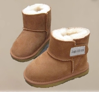 High Quality Real Goat Fur Baby Boy Winter Snow Boots 2016 Brand Kids Baby Boots Shoes
