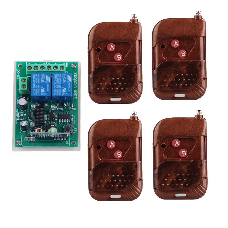 Free shipping 12V 2CH Transmitter Receive wireless remote control switch Learning Code Momentary Toggle Latched Relay indicator new rf wireless switch wireless remote control system 2transmitter 12receiver 1ch toggle momentary latched learning code 315 433