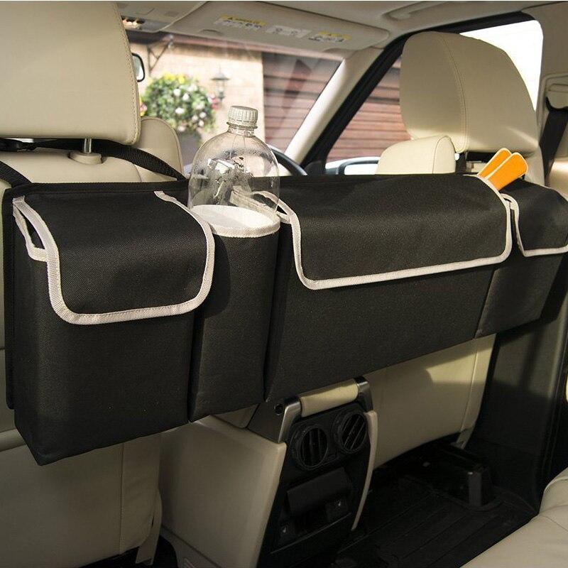 Органайзер для багажника автомобиля, сумка для хранения на заднем сиденье, вместительная многофункциональная ткань Оксфорд, чехлы для сидений автомобиля, аксессуары для интерьера