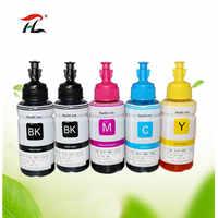 5PK Compatible dye based refill ink kit for Epson printer L100 L110 L120 L132 L200 L210 L222 L300 L312 L355 L350 L362 L366 L550