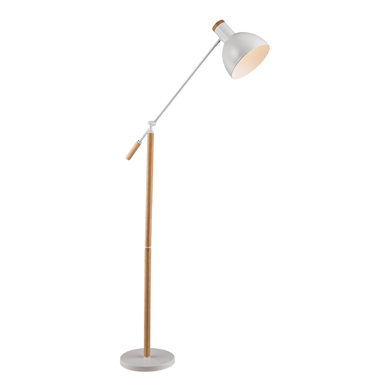 Nordic LED Floor Lamp table light Switch Modern black white red Standing Light Living Room Bedroom Office Reading adjustable arm innovative bedroom light fitting main light integrated with reading light matte black white horizontally or vertically mounted