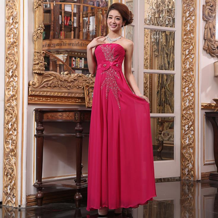 Carpet free Shipping 2018 New Fashion red Brides Tube Top Formal Design Princess Bright Sequin prom gown   bridesmaid     dresses