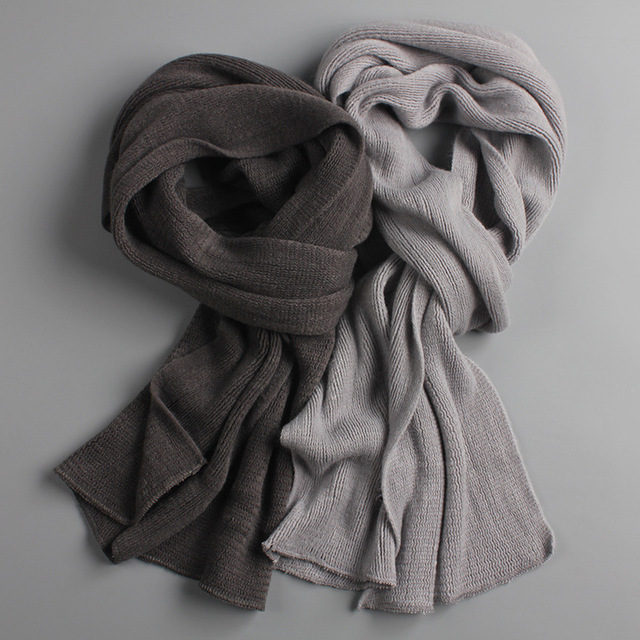 Men Scarf Cashmere-Warmer Spring Knit Thick Warm Winter Male Long-Size New-Arrived Unisex