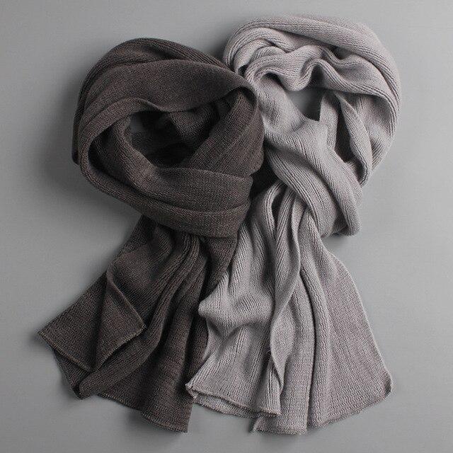 2018 NEUE angekommene männer schal stricken frühling Unisex Dicke Warme winter schals lange größe männlichen kaschmir wärmer frauen schals