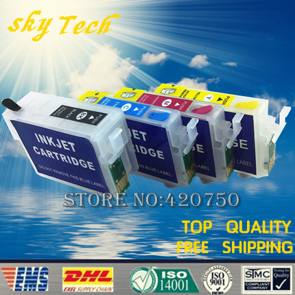 Empty refill ink cartridges For Epson T1301 T1302 T1303 T1304 , suit for BX525WD BX625FWD SX525WD SX620FW etc, with ARC chip