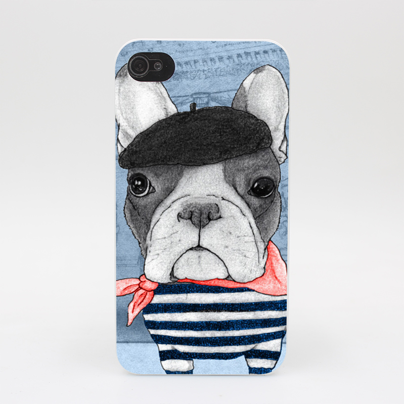 151GS dog fashion luxury French bulldog Hard White Case Cover for iPhone 4 4s 5 5s 5c SE 6 6s Plus Print