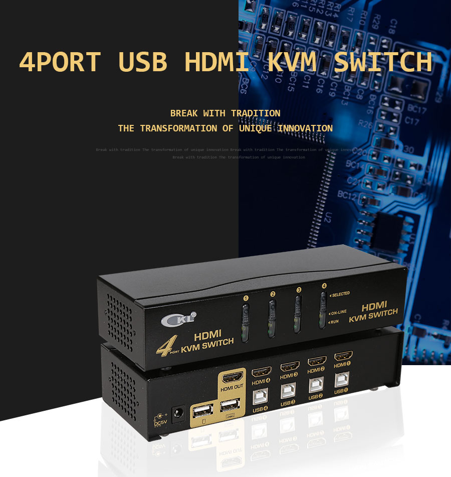 Ckl usb hdmi kvm переключатель с 4 портами без кабеля ПК МОНИТОР