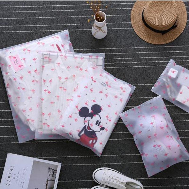 Fashion Transparent Flamingo Cosmetic font b Bag b font Travel Zipper Make Up Case Organizer Storage