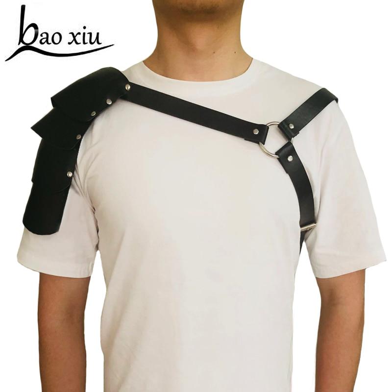 New Men Bondage Leather   Belts   Cowboy Chest Muscle Straps Harness Women Lingerie Clubwear Sex Toys Bondage Metal Ring accessories
