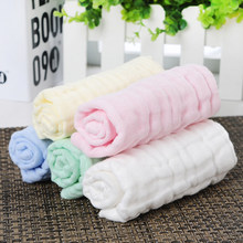 Whole Sale 1PC 100% Cotton Gauze Newborn Baby Infant Colorful Soft Hand Bathing Towel 30*30cm Feeding Square Towels Handkerchief(China)