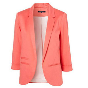 Image 3 - HDY Haoduoyi 2020 Spring Autumn Slim Fit Women Formal Jackets Office Work Open Front Notched Ladies Blazer Coat Hot Sale Fashion