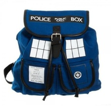 2018 New Arrival Doctor Who Action Figure Bag Phone Booth Police Booth Backpack Men and Women Fashion Style