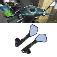 Moto Mirror Accessory Scooter Cafe Bike Universal Side Mirror For vespa gts retroviseur moto guidon accesorios motocicleta
