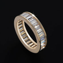 Size 5.5/7/8/9/10 Fashion jewelry Luxury 18kt rose gold filled AAA cubic zirconia Women Wedding Band Ring gift choucong
