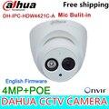 Original Dahua 4MP Camera Mic built in IPC-HDW4421C-A IR Full HD IP POE Dome Camera DH-IPC-HDW4421C-A