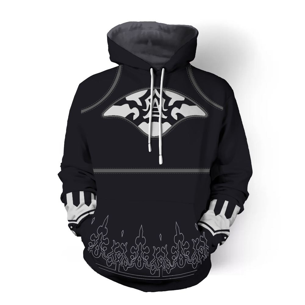 NieR:Automata YoRHa No.2 Type B Cosplay 3D Printed Sweatshirt Cardigan Sweater Cosplay Anime Cartoon hooded sweater Jackets