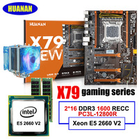 HUANAN Deluxe X79 LGA2011 Motherboard Processor Xeon E5 2660 V2 With CPU Cooler RAM 32G 2