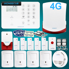 HOMSECUR Wireless 4G/GSM LCD SMS Autodial Burglar Alarm System With SOS Intercom GA01-4G-W