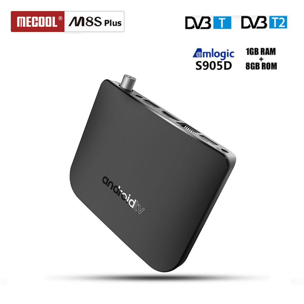 MECOOL M8S Plus DVB-T2/T TV Box Amlogic S905D 1GB RAM 8GB ROM WiFi Set Top Box Android 7.1 4K Media Player Support Youtube цена