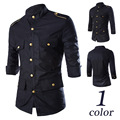 Fashion Mens Luxury Stylish Black Casual Dress Slim Fit Shirts Casual Long Sleeve MAPP04191