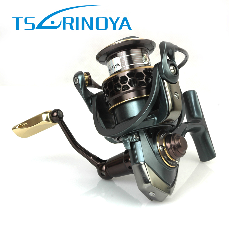 TSURINOYA 9 + 1BB Jaguar 2000 3000 Spinning Reel Fishing Gear Ratio 5.2: 1 Dupla de Metal Carretel Isca Carretel