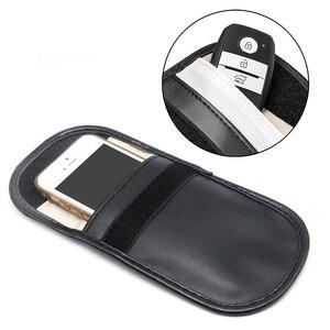 Image 2 - Car Key Signal Blocker Case Faraday Cage Fob Pouch Keyless RFID Blocking Bag
