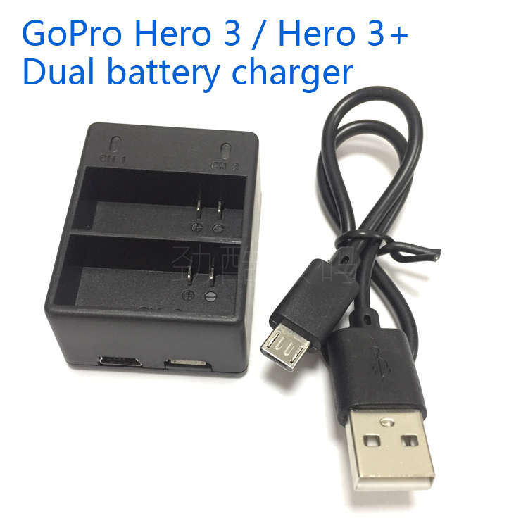 gopro battery AHDBT 302 dual battery charger for gopro hero 3 battery charger batteries Dual charging