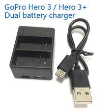 AHDBT-302 gopro батареи двойной зарядное устройство для gopro hero 3 батареи зарядное устройство Двойной поручая интерфейс