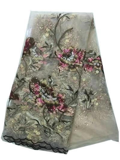 Nové francouzské sítě krajky, africké švýcarské voile tylu pletivo krajky tkanina vysoká kvalita pro svatební šaty 5yards ZD-JL-8 Nigerian! Zd-jl-7