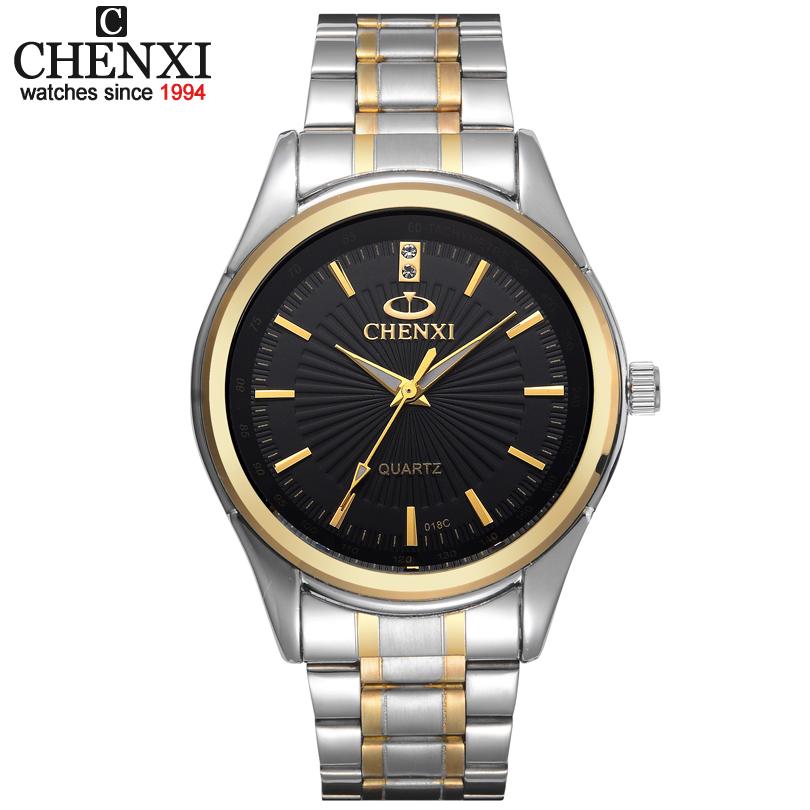 Prix pour Nouvelle arrivée ChenXI Marque De Mode Or Bracelet Hommes Femmes D'affaires de Quartz Montres Robe Inoxydable Plein Acier sport montre-bracelet