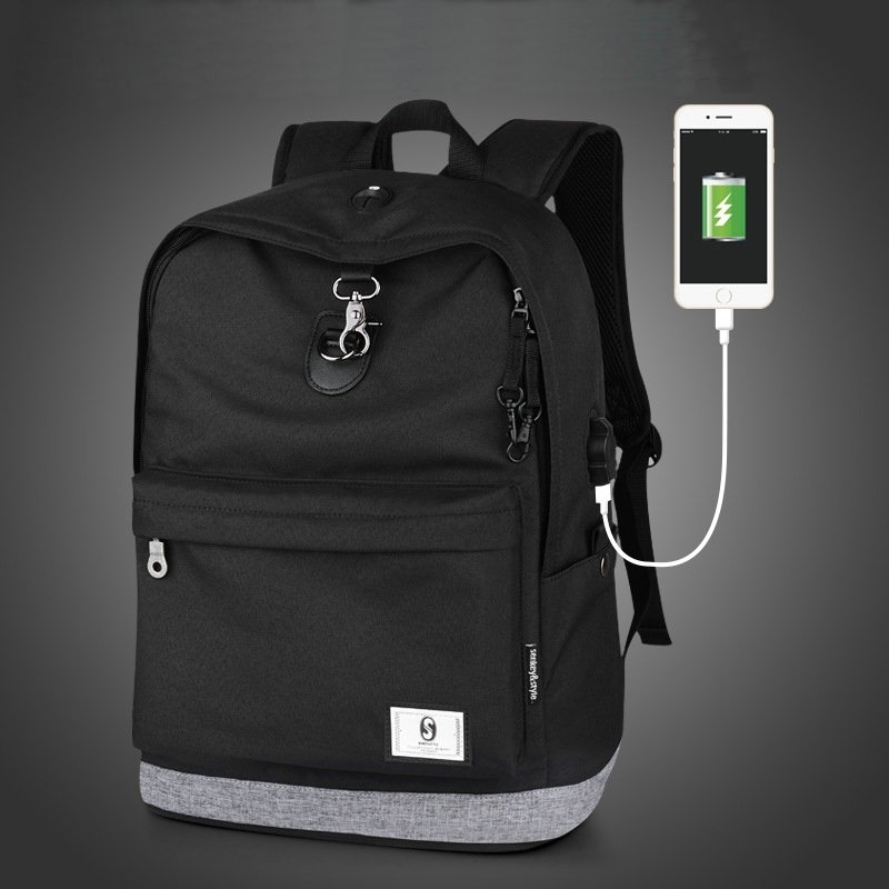 2018 New Fashion Boys School Backpacks Waterproof Men Backpack External Usb Charge School Bags for Teenagers Boys