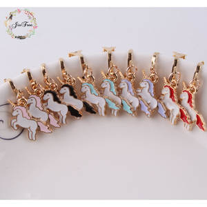 Korea Style 5 color  unicorn Clip on Earrings Without Piercing for Girls Party Cute Animal No Hole Ear Clip