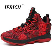 Ifrich 2018 Men Basketball Shoes High Top Lace-Up Breathable Sneakers Damping Comfortable Sport Athletic Man Boots