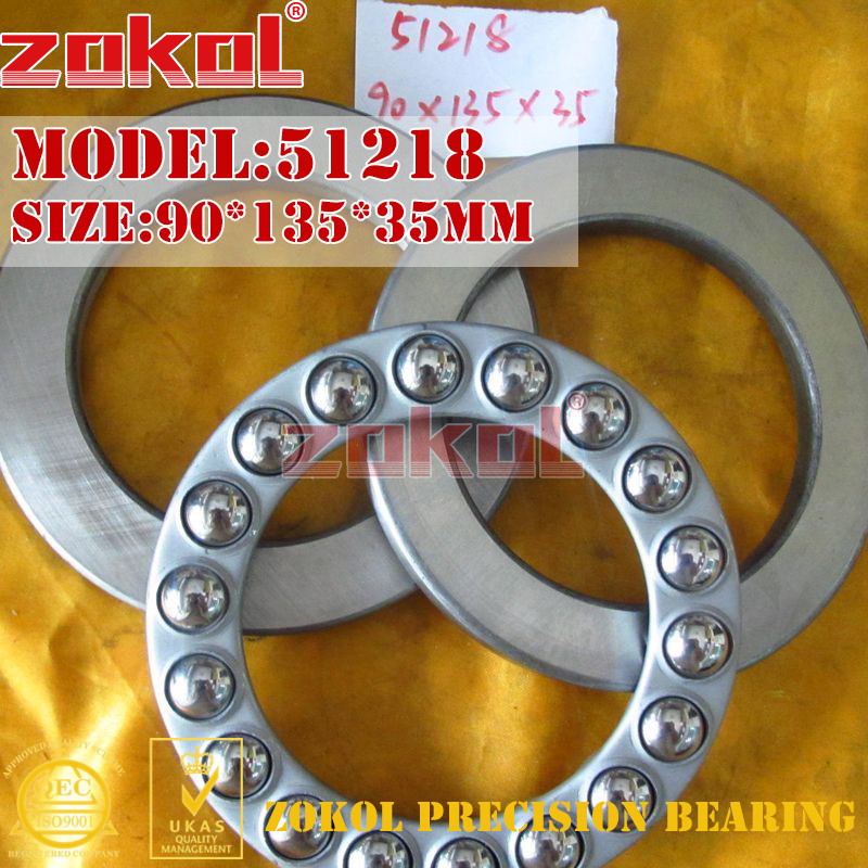 ZOKOL bearing 51218 Thrust Ball Bearing  8218 90*135*35mm zokol bearing 51130 thrust ball bearing 8130 150 190 31mm