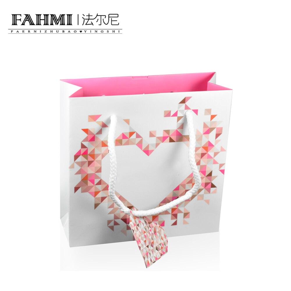 FAHMI Original Charm Ring Bracelet Earrings Necklace Love Handbag Storage Protection Bag Jewelry Atmosphere Fashion Women Gift  0