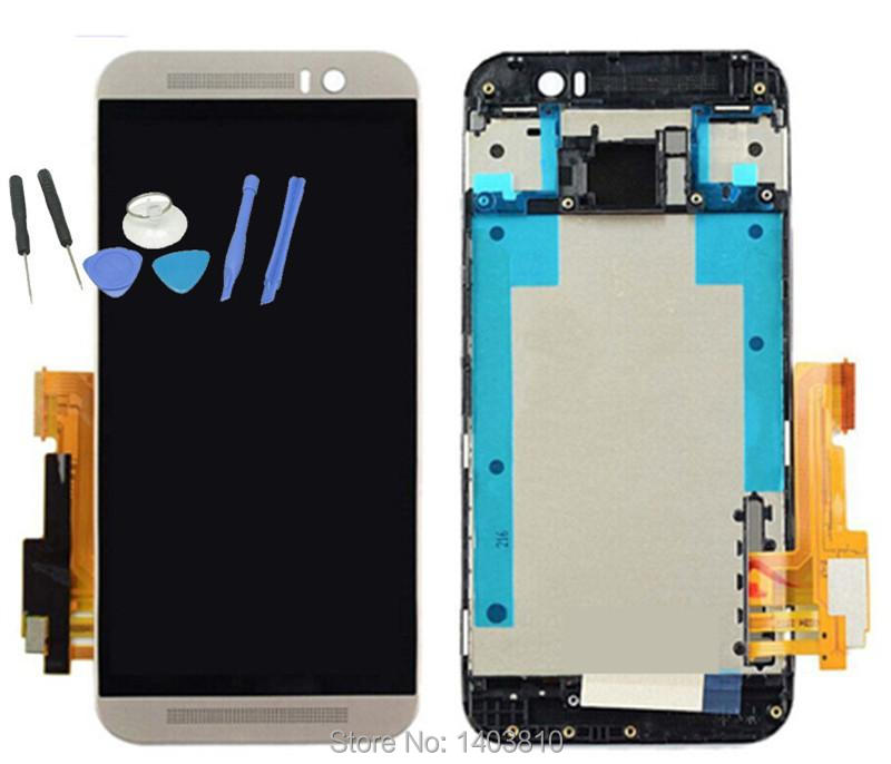 New Original For HTC One M9 LCD Display + Touch Digitizer Screen with Frame +Tools Replacement Silver Color леска для триммера oregon 99152е старлайн 2 мм х 15 м