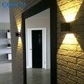 1X1 W de Alta Calidad Promesa Llevó la Lámpara de Pared Cuadrado Negro/Plata Cubierta Dormitorio/Sala de estar Luces de la pared, blanco/Blanco Cálido, 6 CM