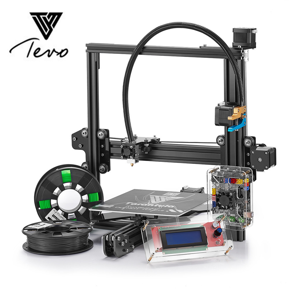 2018 plus récent Tevo Tarantula 3D imprimante kit de bricolage cadres en aluminium. Prend en charge la plate-forme automatique hors ligne de carte TF et l'extrudeuse de Titan
