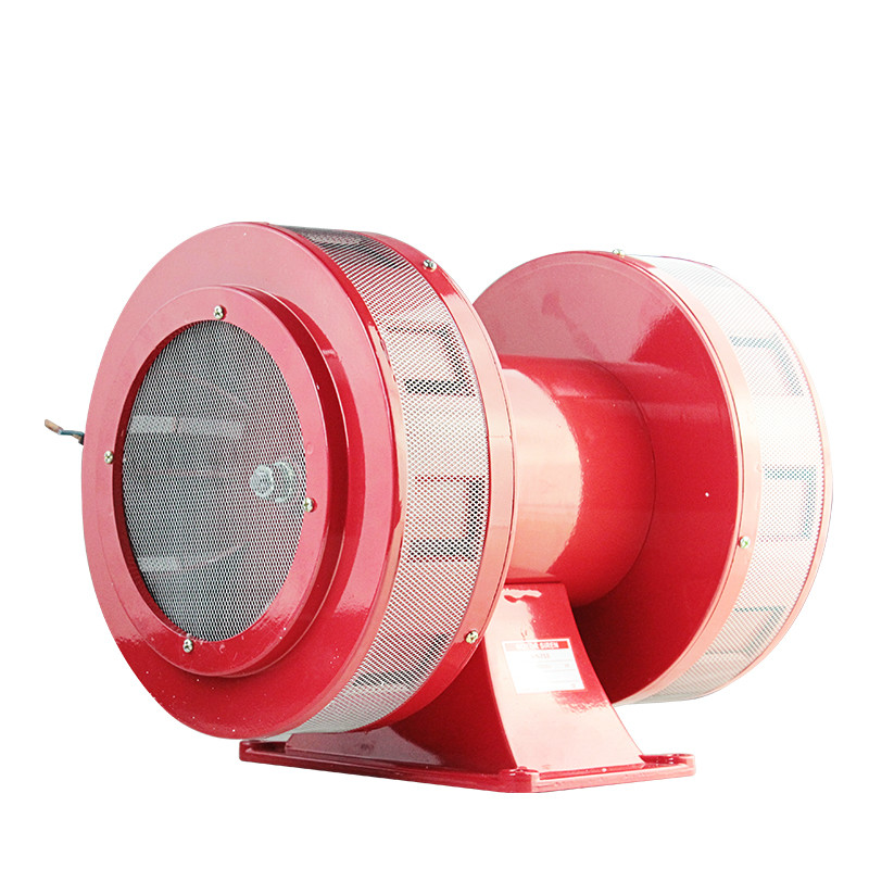 цена на MS-790 AC 110V 220V 180db Motor Driven Air Raid Siren Metal Horn Double Industry Boat Alarm