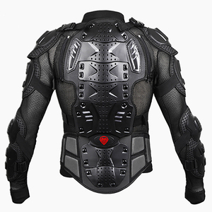 Image 3 - Black/RED Motorcycles Armor Protection Motocross Clothing Jacket Protector Moto Cross Back Armor Protector Motorcycle Jackets