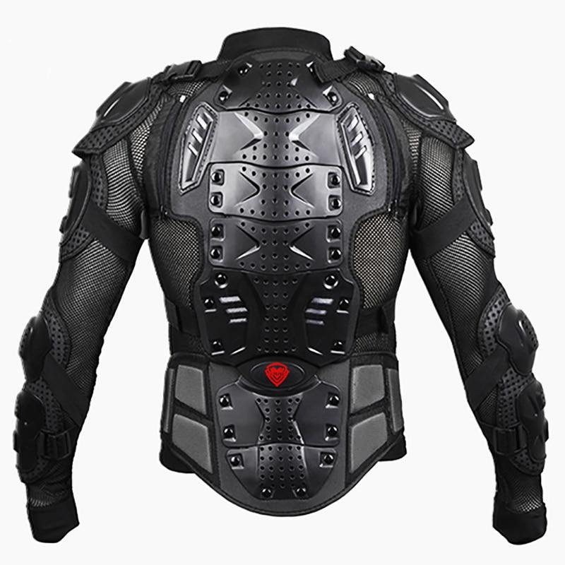 Noir/ROUGE Motos Armure Protection Motocross Vêtements Veste Protection Moto Cross Retour Armure Protecteur Moto Vestes - 3
