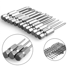 12Pcs/Set 50mm 1/4 Inch Hex Shank Magnetic Cross Screwdriver Bits
