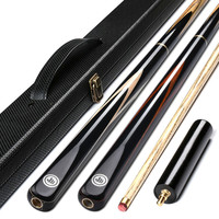18 New Pool Cue Small Head Black 8 Ball Snooker Chinese Black Eight Billiard Bar Big Head Single Club Set Billiards